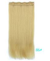 Накладні волосся тресс 60 см колір блонд, фото 1
