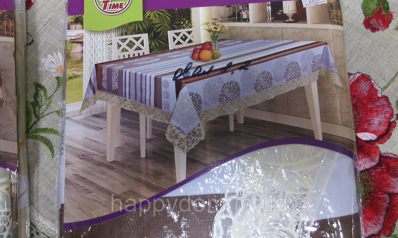 Скатерть на основе, раскладной стол овал