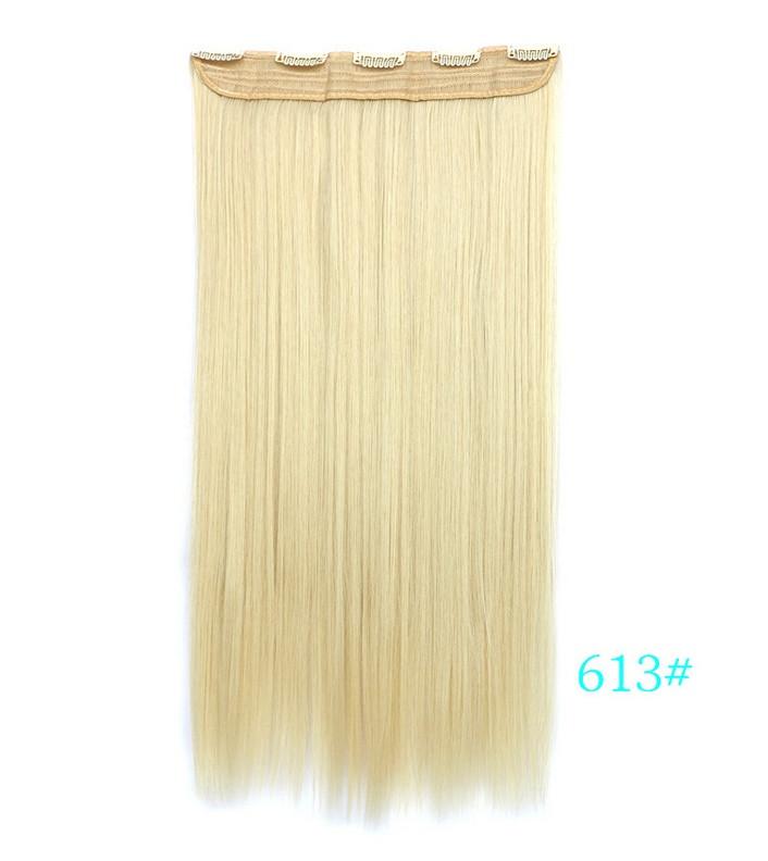 Не дорого ровные длинные трессы 60 см цвет блонд