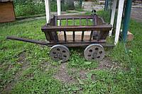 Декоративний возик з дерева, фото 1