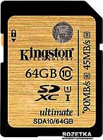 Карта памяти SDXC 64Gb class 10 Kingston UHS-I Ultimate (SDA10 / 64GB)