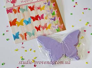 "Гірлянда ""Метелик"" об'ємна 2,5 м бузкова"