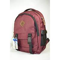Удобный женский/мужской рюкзак бордового цвета