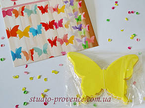 "Гірлянда ""Метелик"" об'ємна 2,5 м жовта"