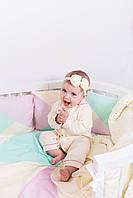 Пижама-слип для новорожденных р.86 Ванильная с розовым