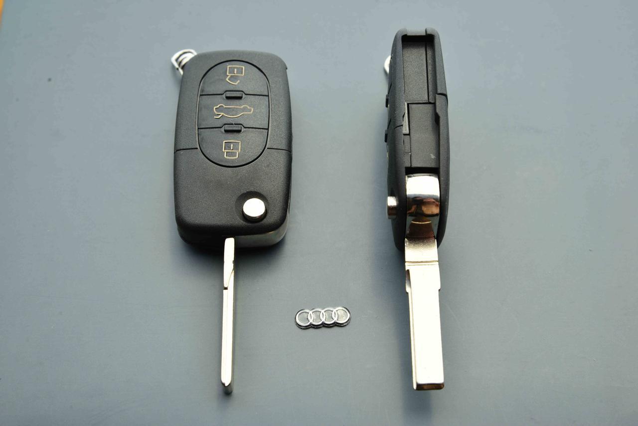 Корпус выкидного авто ключа для Audi A4, A6, A8 (Ауди A4, A6, A8) 3  кнопки