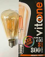 Светодиодная ретро-лампа Эдисона Loft LED VITOONE ST64 8W 800Lm