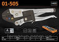 Клещи для обжима кабельных наконечников (0.5-1.0, 1.5-2.5, 4.0-6.0)мм², L-210мм, NEO 01-505