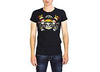 Черная мужская футболка с рисунком DSQUARED  на лето, фото 1