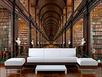 Панорамные фотообои зал библиотеки