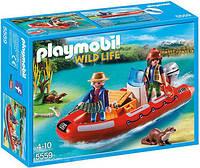 Лодка с браконьерами Playmobil