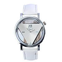 Часы женские наручные кварцевые с белым браслетом