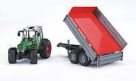 Игрушечный Трактор Fendt 209 S с прицепом М1:16 BRUDER