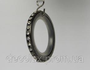 Кольцо для штор с кристаллом, тихое