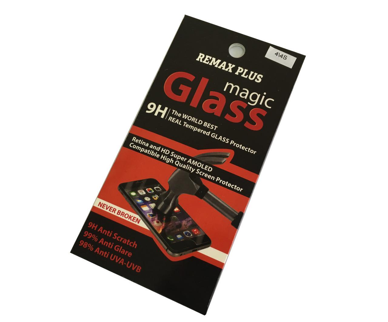 Защитное стекло Remax plus Magic Glass для iPhone 4/4s (0.2мм)
