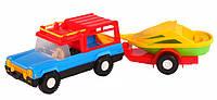 Авто-сафари с прицепом - машинка, Wader (39006-3)