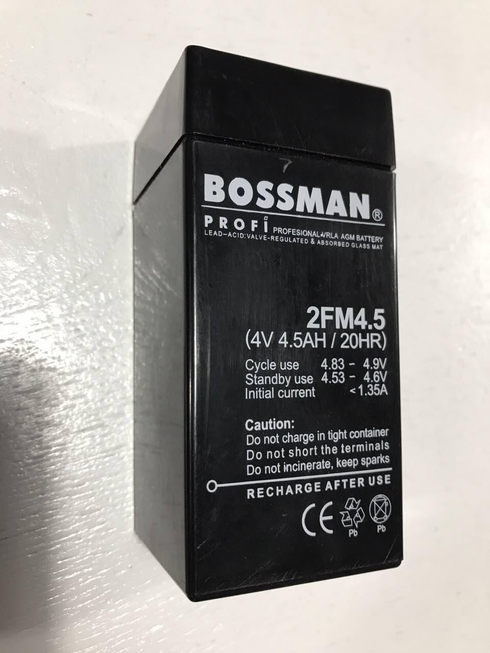 Акумулятор 4V 4500mAh BOSSMAN 2FM4,5
