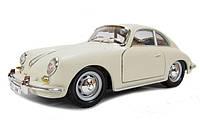 Модель - Porsche 356B 1961 (цвет слоновой кости) 1:24, Bburago (18-22079-1)