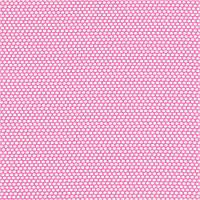 Хлопковая ткань Горошки на ярко-розовом
