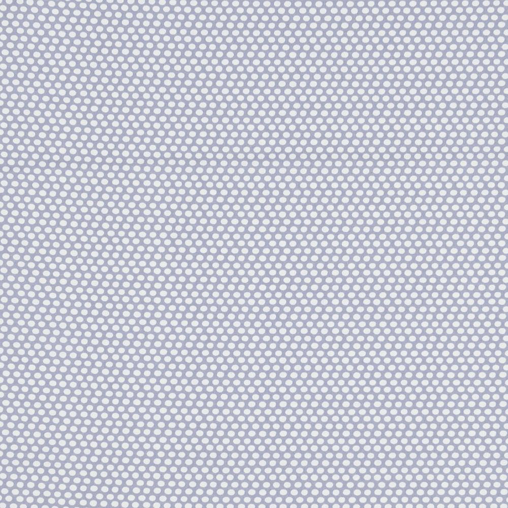 Хлопковая ткань Горошки на серо-синем