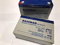 Аккумулятор 6V 12Ah BOSSMAN 3FM12