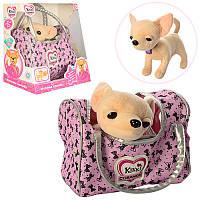 """Детская игрушка """"Собачка в сумочке"""" Кикки M 3482 UA"""