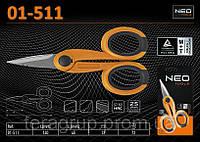 Ножницы для кабеля и изолирующей оболочки Ø-(0.7...1.0)мм², L-140мм, L1-45мм, NEO 01-511