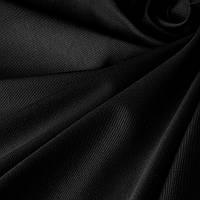Ткань коттон однотонный Черный