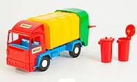 Mini truck - игрушечный мусоровоз (красная кабина), Wader  (39211-2)