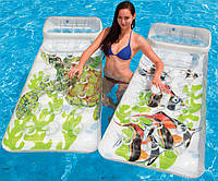 Надувной пляжный матрас с подушкой Ocean Водный мир Intex 58878