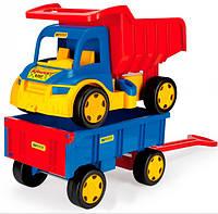 Большой игрушечный грузовик Гигант с тележкой, Wader (65100)