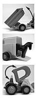 Игрушечная машинка трактор-багги с прицепом и лошадкой, Wader (39229-1)