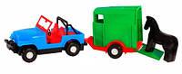 Авто джип с прицепом и лошадкой машинка Wader (39007-2)