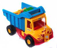 Грузовик с трактором желтый синий Wader (39219-3)