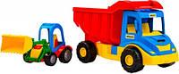 Грузовик с трактором синий красный Wader (39219-2)