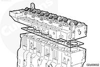 Установка головки блоку циліндрів Cummins ISC, ISCe, QSC8.3, ISL, ISLe3, ISLe4 і QSL9