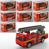 Машинка MZ710A пожежна, мет , 8 видів, кор , 10,5-5-4 см (BOC083564)