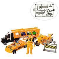 Набір транспорту GT11-9 трейлер, машинки, мотоцикл, фігурка, кул , 23,5-26-3,5 см (BOC106601)