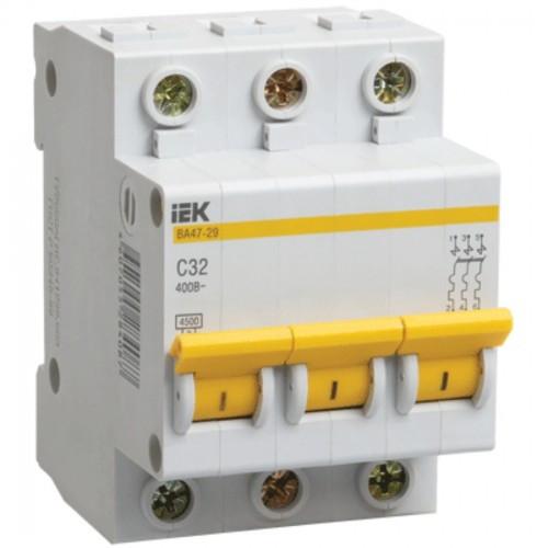 Автоматический выключатель IEK ВА47-29 3Р 40А 4,5кА