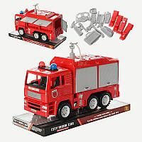 Пожежна машина 661-17 інерц , бризкає водою, відчиняється кузов, бліст , 29-19-11,5 см (BOC070252)