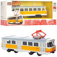 Трамвай 6411B мет , інерц , кор , 19,5-5-7,5 см (BOC102556)
