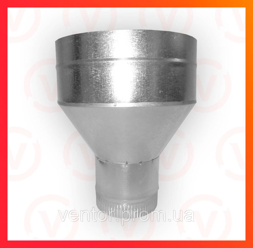 Воронка из оцинкованной стали, диаметр 110-120 мм