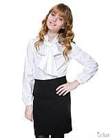 Блуза шовкова з бантом Лукас 4221