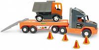 Машина Super Tech Truck с грузовиком, Wader (36710)