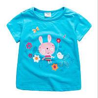 Детская яркая футболочка из хлопка, для девочки.