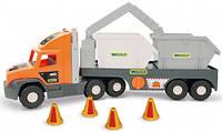 Машина Super Tech Truck со строительными контейнерами, Wader (36760)