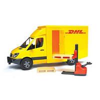 Игрушка - МВ Sprinter курьерская доставка грузов с погрузчиком М1:16 BRUDER (02534)