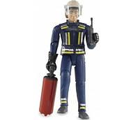Игрушка - фигурка пожарника 11см + аксессуары BRUDER (60100)