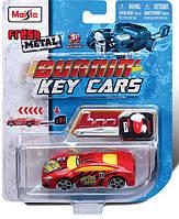 Автомодели игровые Burnin Key Cars инерционные блистер ассорт (12 видов х 2 цвета) MAISTO (15101)