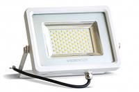 Прожектор LED, Videx, 50W, 5000K, 220V, 4850Lm, White, IP65, кабель с заземлением (VL-F505W)